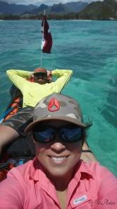 Une pause en kayak - Lanikai en direction des mokes